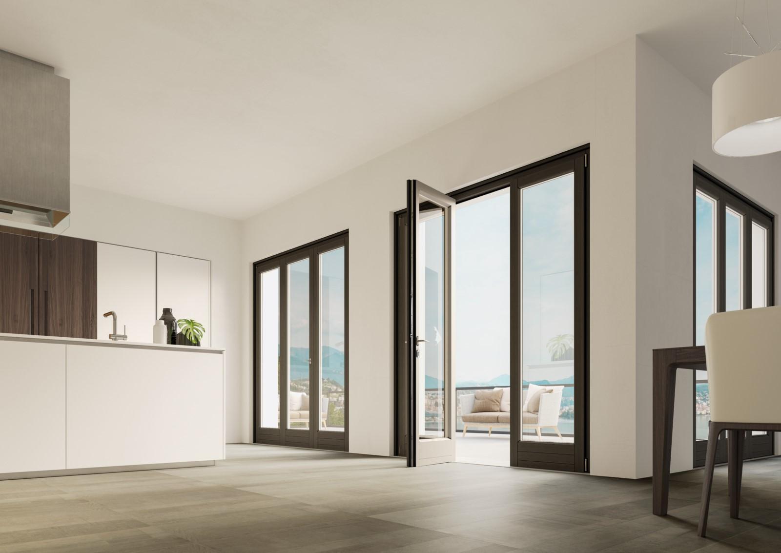 Finestre in legno finstral da omnia serramenti a pisa - Soglie per finestre moderne ...