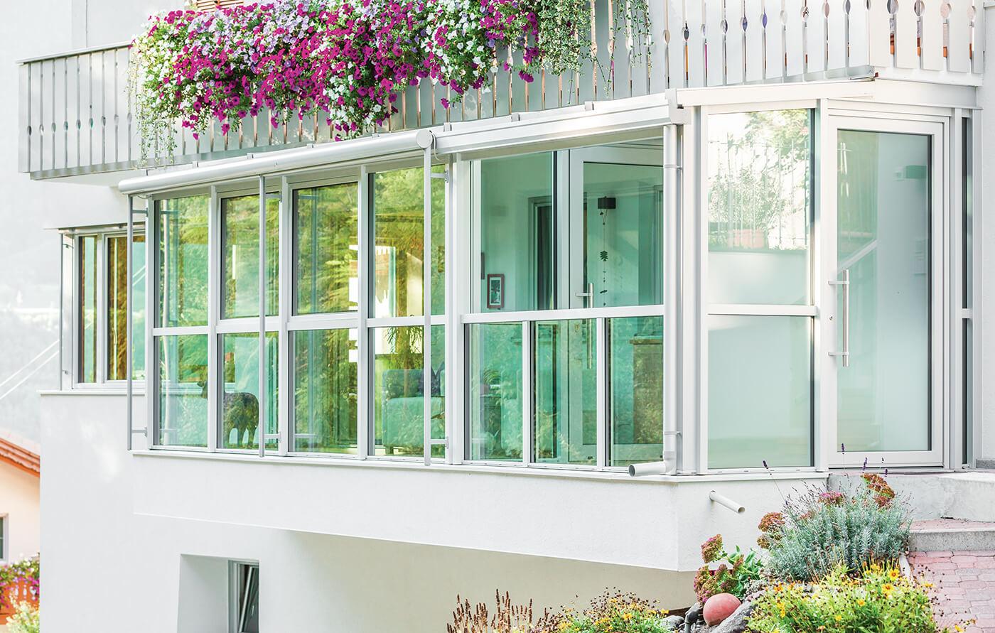 Verande finstral e giardini d 39 inverno in pvc omnia for Giardini e verande