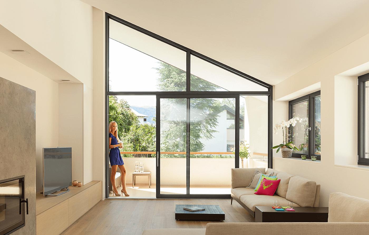 Serramenti in alluminio finstral omnia serramenti a pisa for Porte e finestre pvc