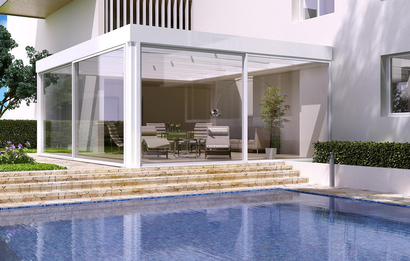 Verande e giardini d 39 inverno in alluminio tender sunroom for Giardini e verande