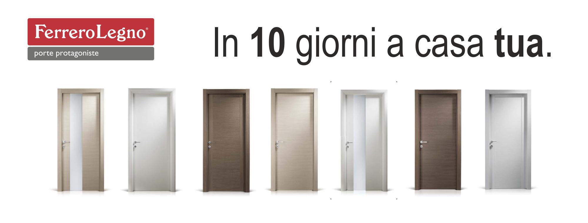 Porte interne Ferrero legno in 10 giorni da Omnia Serramenti a Pisa