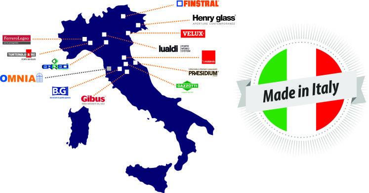 Fornitori italiani e prodotti made in italy for Finestre velux rimini