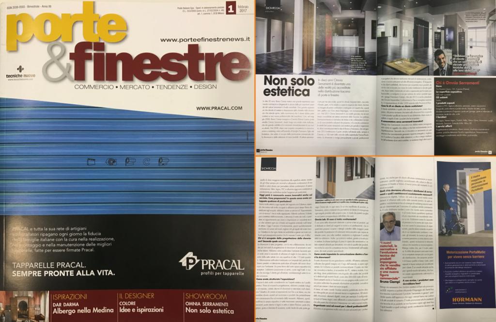 Si parla di Omnia sulla rivista specializzata Porte & Finestre NOVITÀ