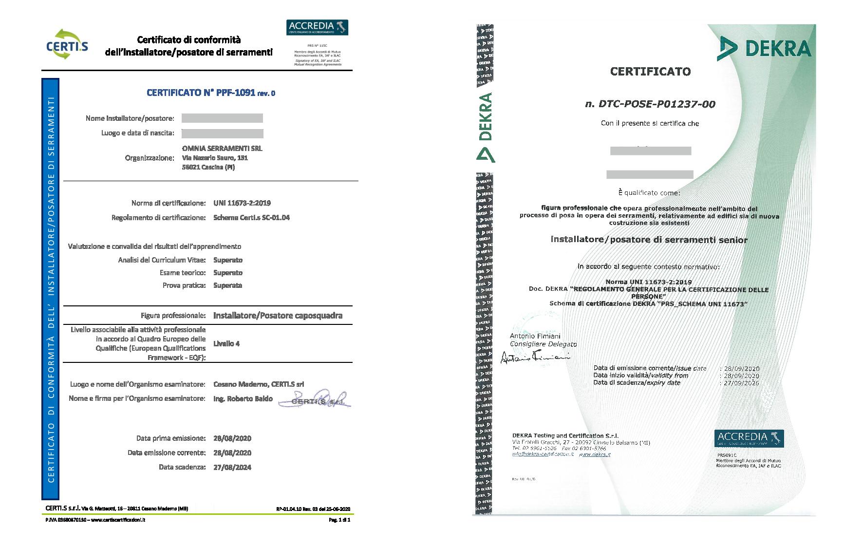 OMNIA e la posa certificata EQF3 e EQF4 NOVITÀ Normative e legislazioni Progettisti